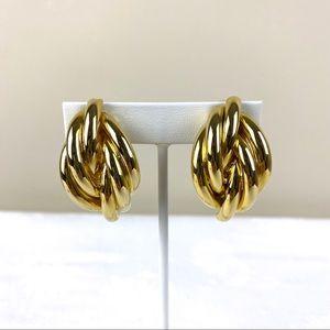 Vintage Goldtone Earrings Clip On